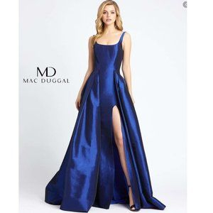 MAC DUGGAL NEW Sapphire High Slit Ball Gown
